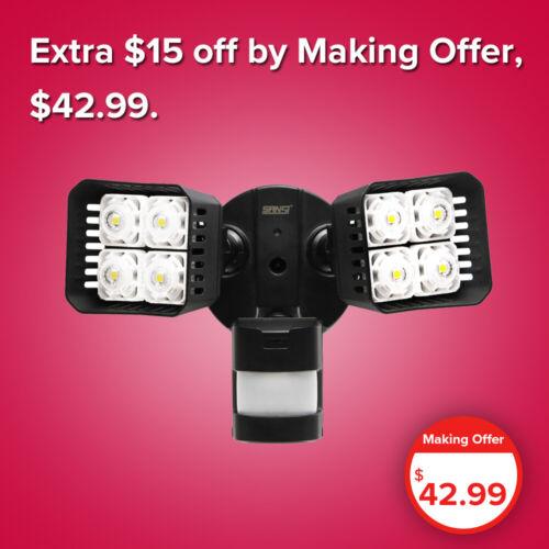 SANSI LED Motion Sensor Security Light Outdoor Waterproof Floodlight 30W Black