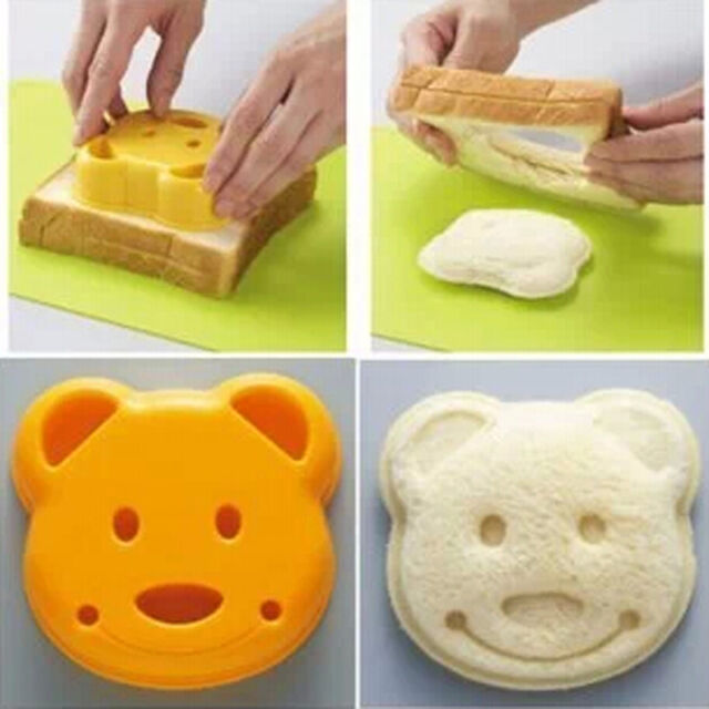Bear POP UP Toast Bread Food Sandwich Stamp Mold Cutter Maker Bento Accessories
