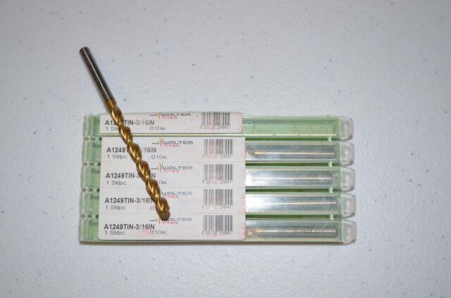 WALTER TITEX A1149TIN-19.5 PARABOLIC FLUTE 19.5MM TiN COATED DRILL NEW QTY 1