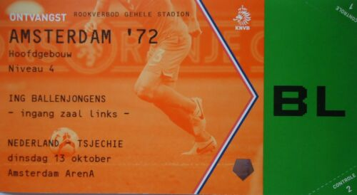 Czech Republic # Amsterdam /'72 mint TICKET 13.10.2015 Niederlande Holland