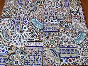 Moroccan hand cut mosaic zelige style tiles zellige packs of
