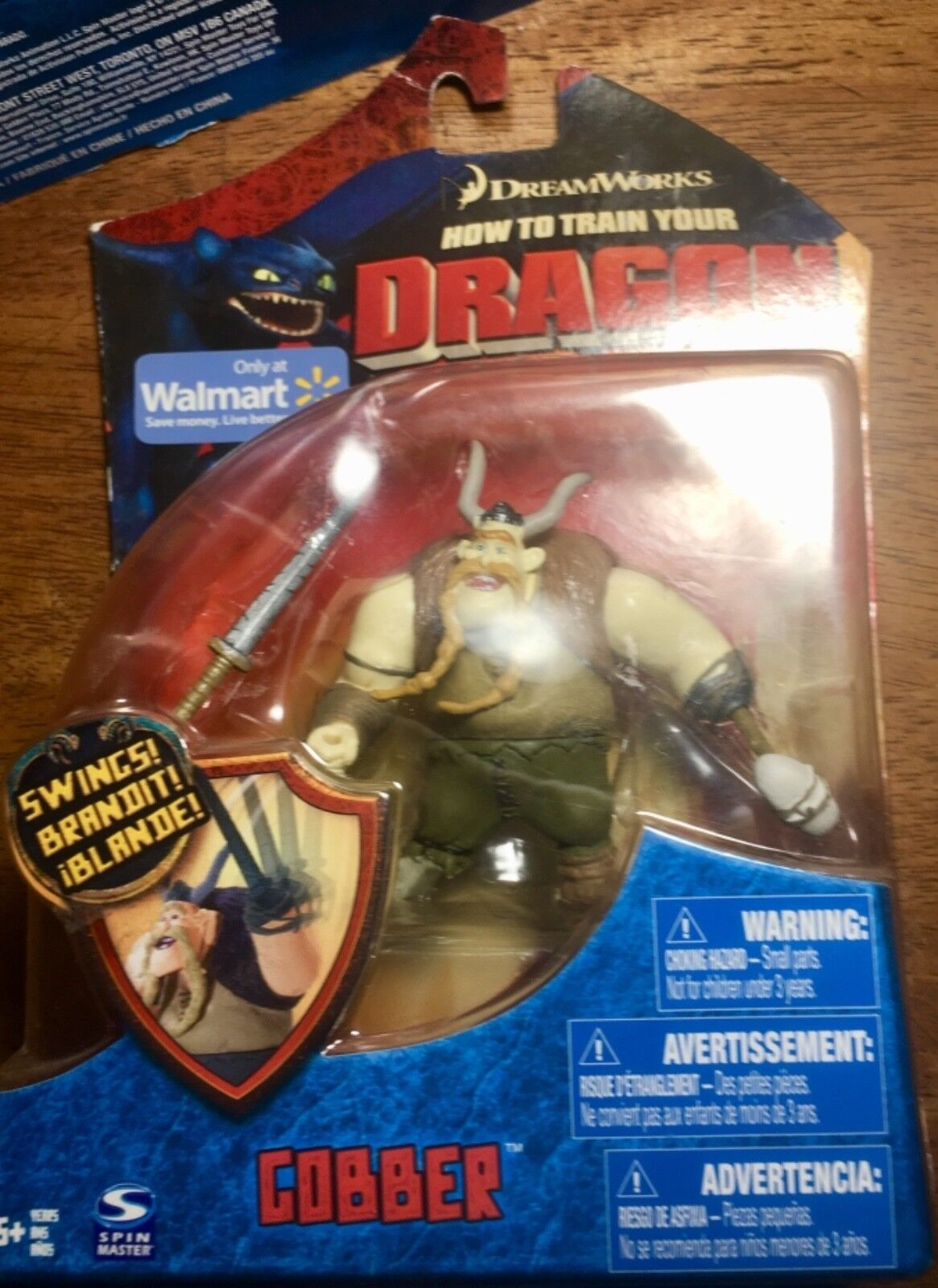 How to Train Your Dragon Gobber Walmart Exclusive 4  Spin Master 2010 Series 1