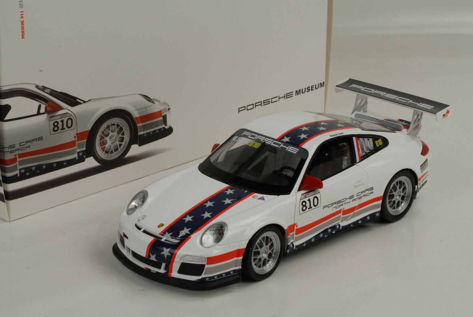 Porsche 997 gt3 RS North America m. snow 1 18 Promo Map museo