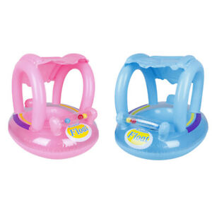 1pc-Inflatable-Baby-Boat-with-Canopy-Pool-Float-for-Kids-Swimming-Ring-Water-ME