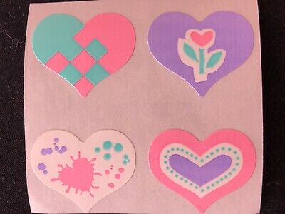"Sandylion MINI HEARTS PRISMATIC 1 Square 1//4/"" Stickers VERY LIMITED/'"