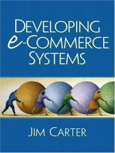 Developing e-Commerce Systems, Carter, Jim A., Used; Very Good Book