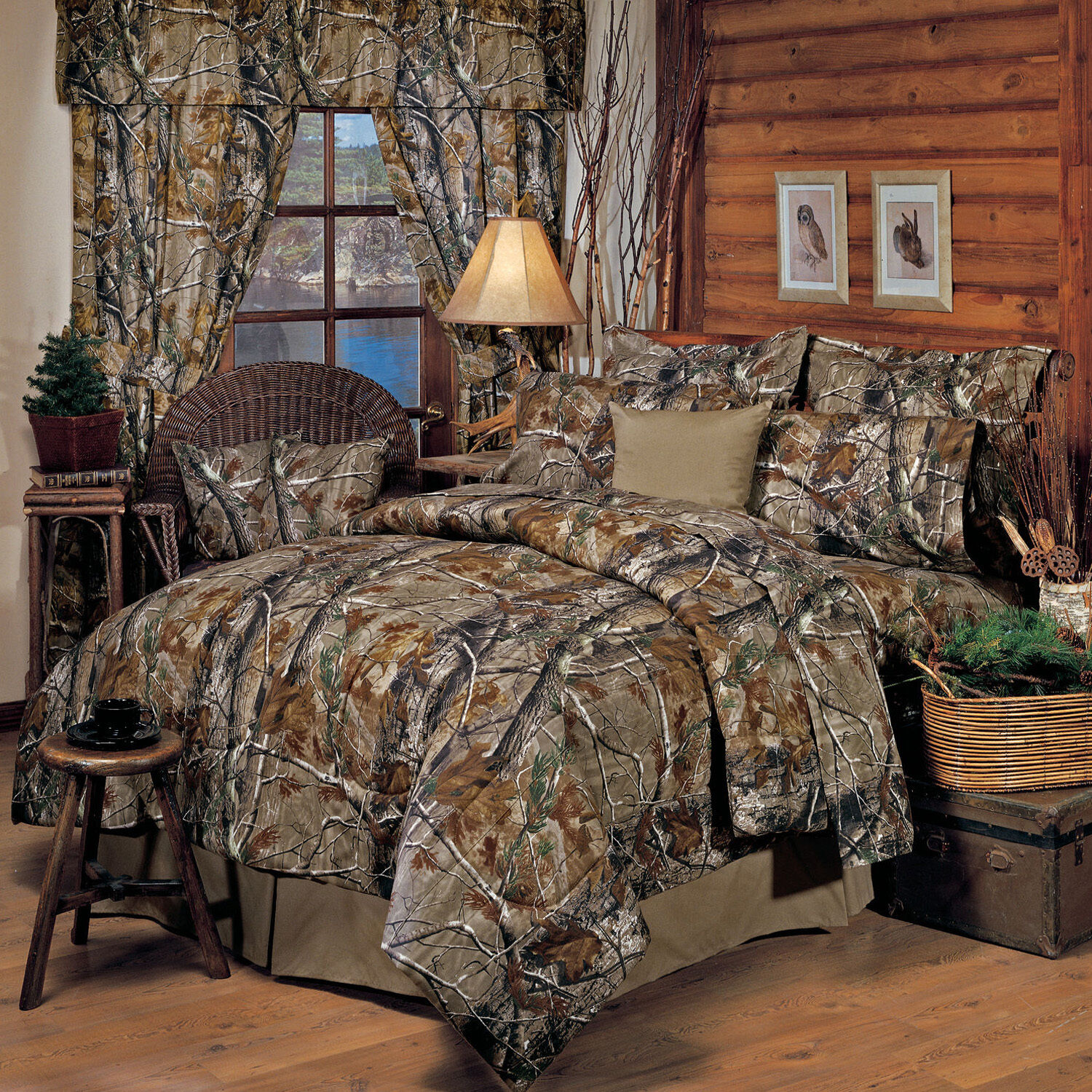 Realtree All Purpose Camo Comforter Set With Sheet and Curtain Option