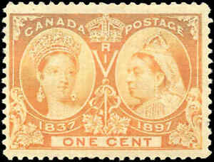 1897-Mint-NH-Canada-F-Scott-51-1c-Diamond-Jubilee-Issue-Stamp