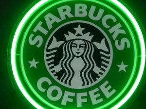 Starbucks Coffee Cafe Display Decor Neon Sign
