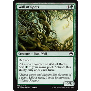 Foil MTG Iconic Masters C M//NM x1 Wall of Roots English