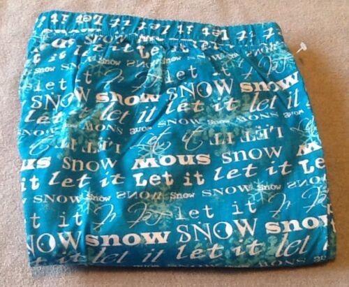 1X Catherines Cotton Christmas Holiday Plus Size PJ Pajama Pants LET IT SNOW
