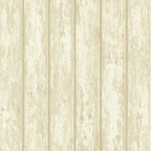 Wallpaper-Almond-Beige-Cream-White-Faux-Wood-Weathered-Shiplap-Planks