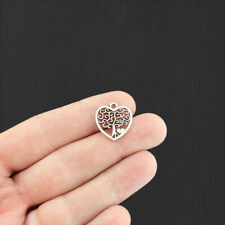 SC309 BULK 20 Life Charms Antique Silver Tone 2 Sided Great Quality