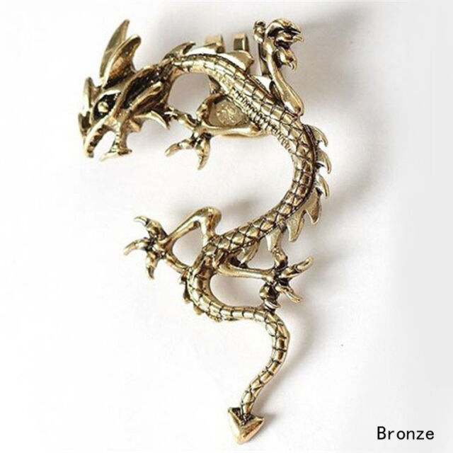 Fashion Gothic Punk Metal Vintage Style Fly Dragon Ear Cuff Wrap Clip Earring