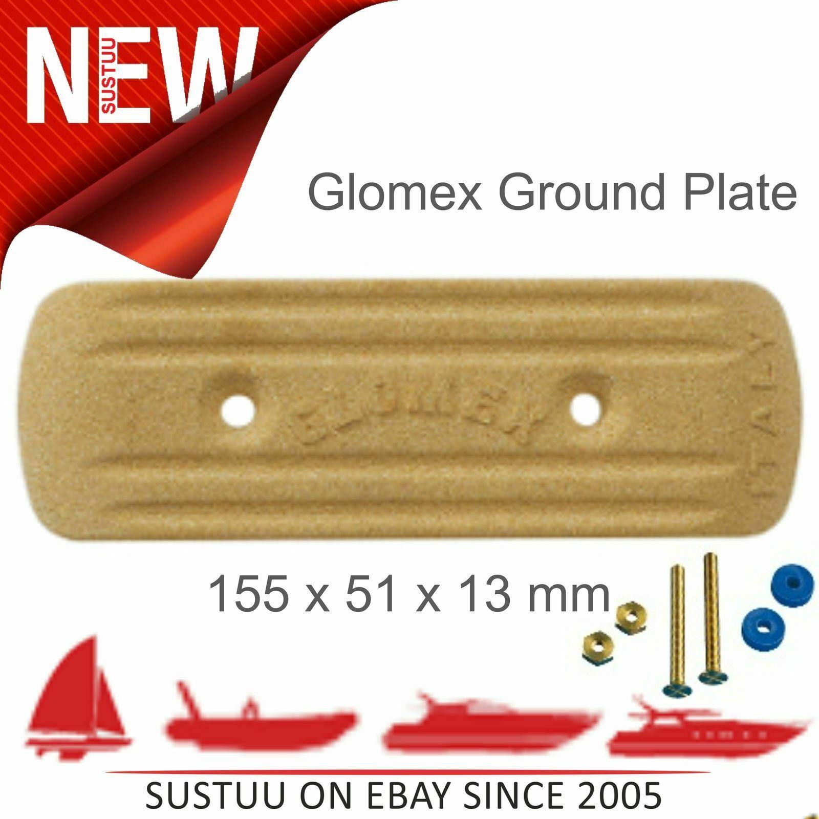 Glomex RA203 Rechteckig Boden Platte │ 155x51x13 mm │ für Gerippt   Segel