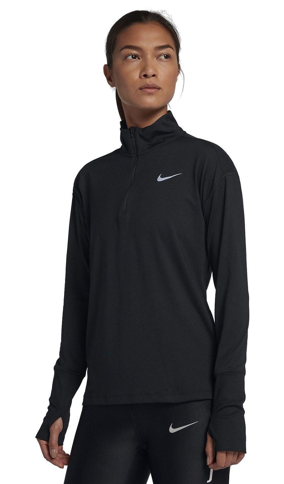 Nike Mujer Manga Larga Camiseta Running Deportiva NK Drifit Elemento Top