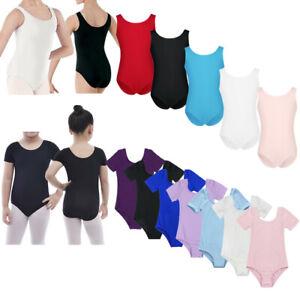 Kids-Girls-Gymnastics-Ballet-Dance-Leotard-Stretchy-Jumpsuit-Dancewear-Costume