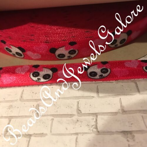 5//8 Panda foe inspired panda elastic panda hair ties panda favors