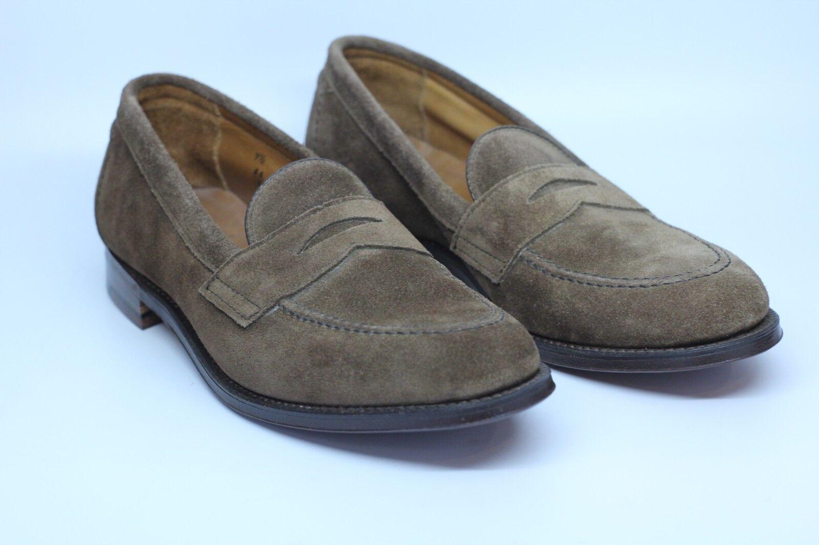 2195f1a9 Alden 9697 F antideslizante en mocasines zapatos de gamuza marrón Flex Welt  EE. UU. B Hecho en ntqeib8479-Zapatos de vestir
