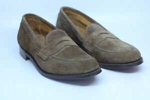 264073df147 Alden 9697 F Brown Suede Slip On Loafers Shoes Flex Welt Made in USA ...