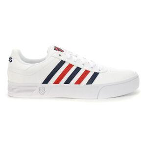 K-Swiss Men's Court Lite Stripes White/Corporate Classic Shoes K06149.1032 NEW
