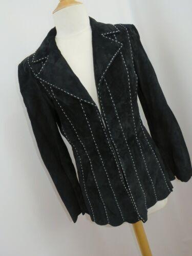 Størrelse Suede Women's Sm Concepts International Sort Jacket Petite Leather Hc Inc 0q1In