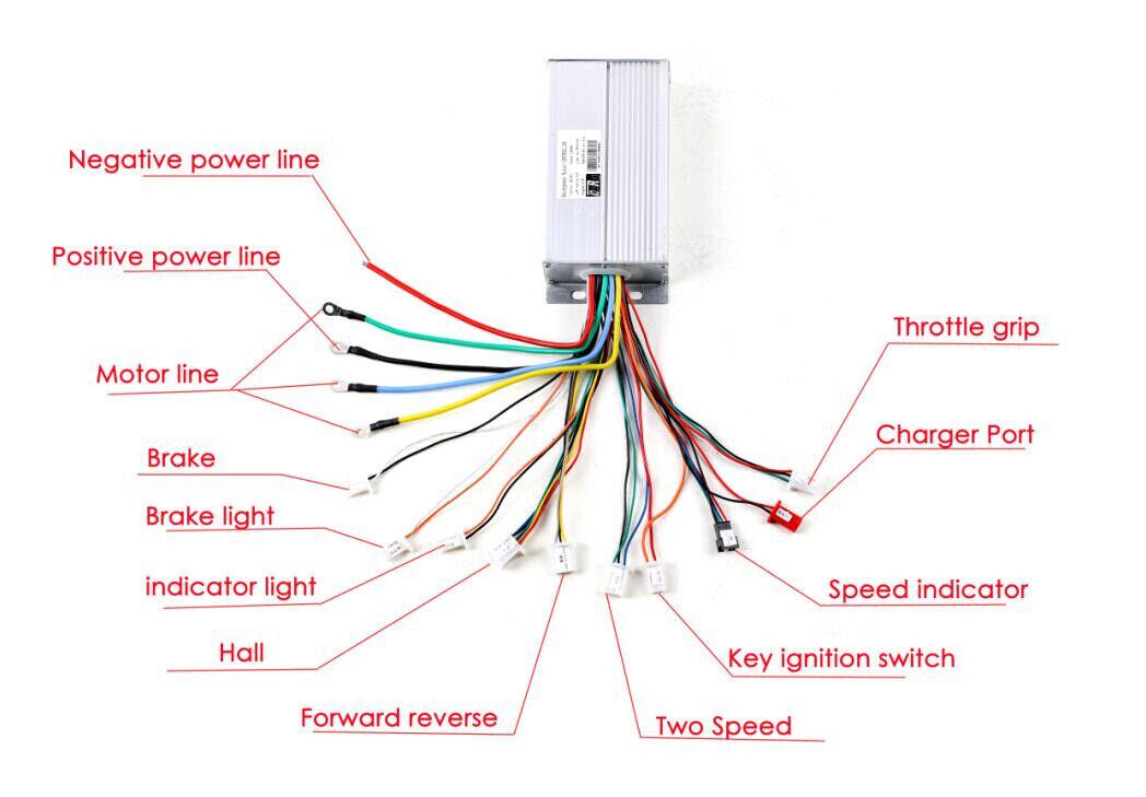 Controlador de velocidad de motor sin escobillas 48V 1800W Cargador Cargador Cargador De Pedal De Pie Para Razor Go Kart d34ba7