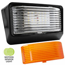 Led Rv Motion Sensor Exterior Porch Utility Light Black 12v Lighting Fixture