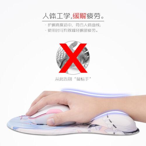 Hyperdimension Neptunia Nep Gear 3D Hip Silicone Mousepad Mat Wrist Rest Anime