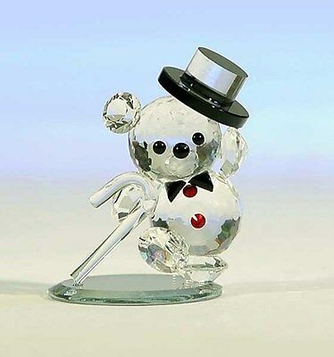 New Crystal World Show Time Teddy  Figurine Miniature