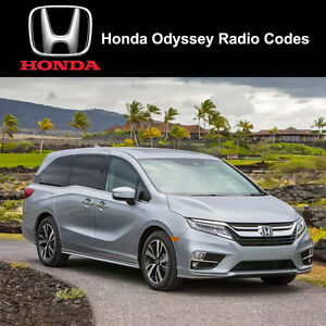 Honda odyssey radio code stereo pin unlock codes fast for Honda odyssey service codes