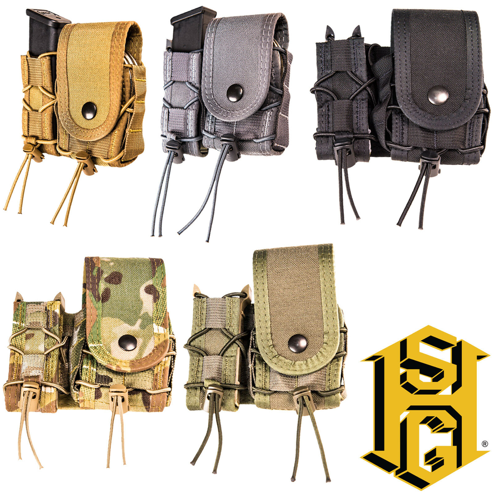 HSGI Tactical LEO TACO Covered Belt Mounted Pistol Magazine Mag Handcuff Pouch