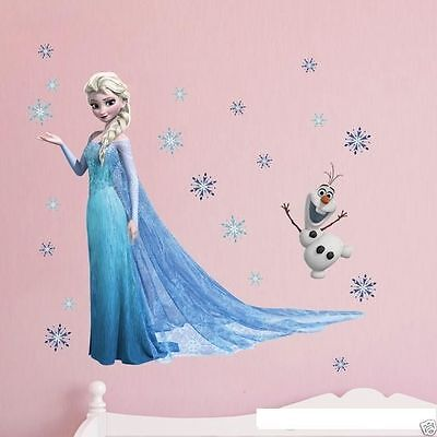 Kristoff Frozen 3D Wall Decal Removable Olaf Elsa Sven Anna Wall Sticker