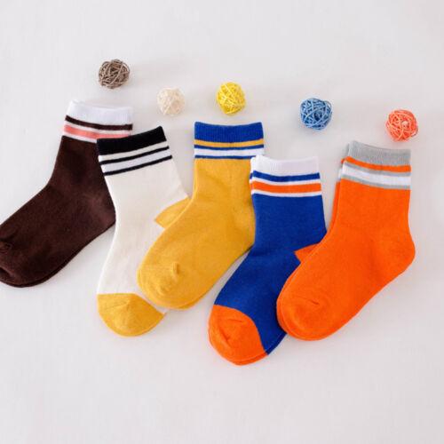 5 Pairs Cute Baby Boy Girl Cotton Cartoon Socks NewBorn Christmas Soft Sock