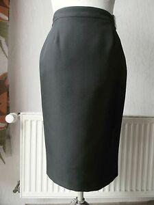 ee055b00f145 Details zu Damen Rock eng knielang Gr. 38 schwarz 80% Viskose/ Polyester