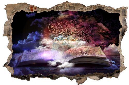 Fantasy Zauber Buch Zauberei Wandtattoo Wandsticker Wandaufkleber D1217