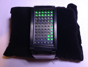 TOKYOFLASH-SEAHOPE-ELEENO-DUAL-TOUCH-BLACK-ORNG-GRN-LED-WATCH-COOL-FUTURISTIC