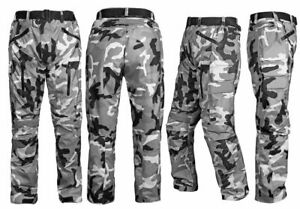 Motorbike-Motorcycle-Waterproof-Cordura-Textile-Trousers-Pants-Armours-CAMO
