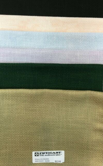 Willow Green 18 Count Zweigart Aida cross stitch fabric various size options