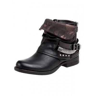 Damen Vintage Biler Ankle Boots Stiefeletten Schwarz Braun Grau 37,38,39,40,41