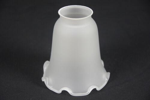 Lampenschirm Glas Glasschirm Weiß Ersatz E27 12 cm Ø ca K0866