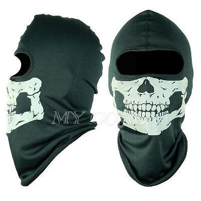 Ghost Biker Skull Hood Face Mask Motorcycle Ski Balaclava CS Sport Helmet Snood