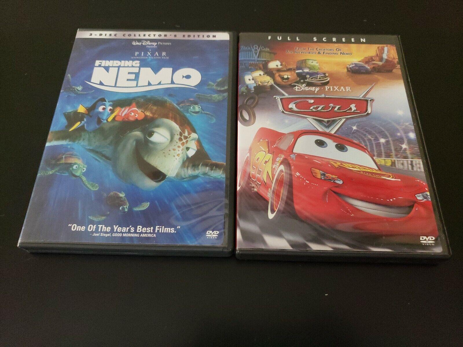 Walt Disney Pixar Animated Dvd Lot Cars & Finding Nemo Tested Free Shipping 5A | eBay