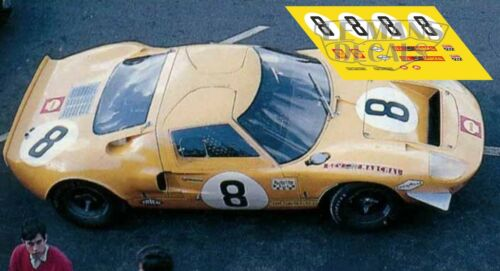 Calcas Ford GT40 Le Mans 1968 8 9 10 11 12 1:32 1:24 1:43 1:18 64 87 MkII decals