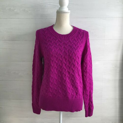 J.Crew - Orchid purple cable knit sweater, L