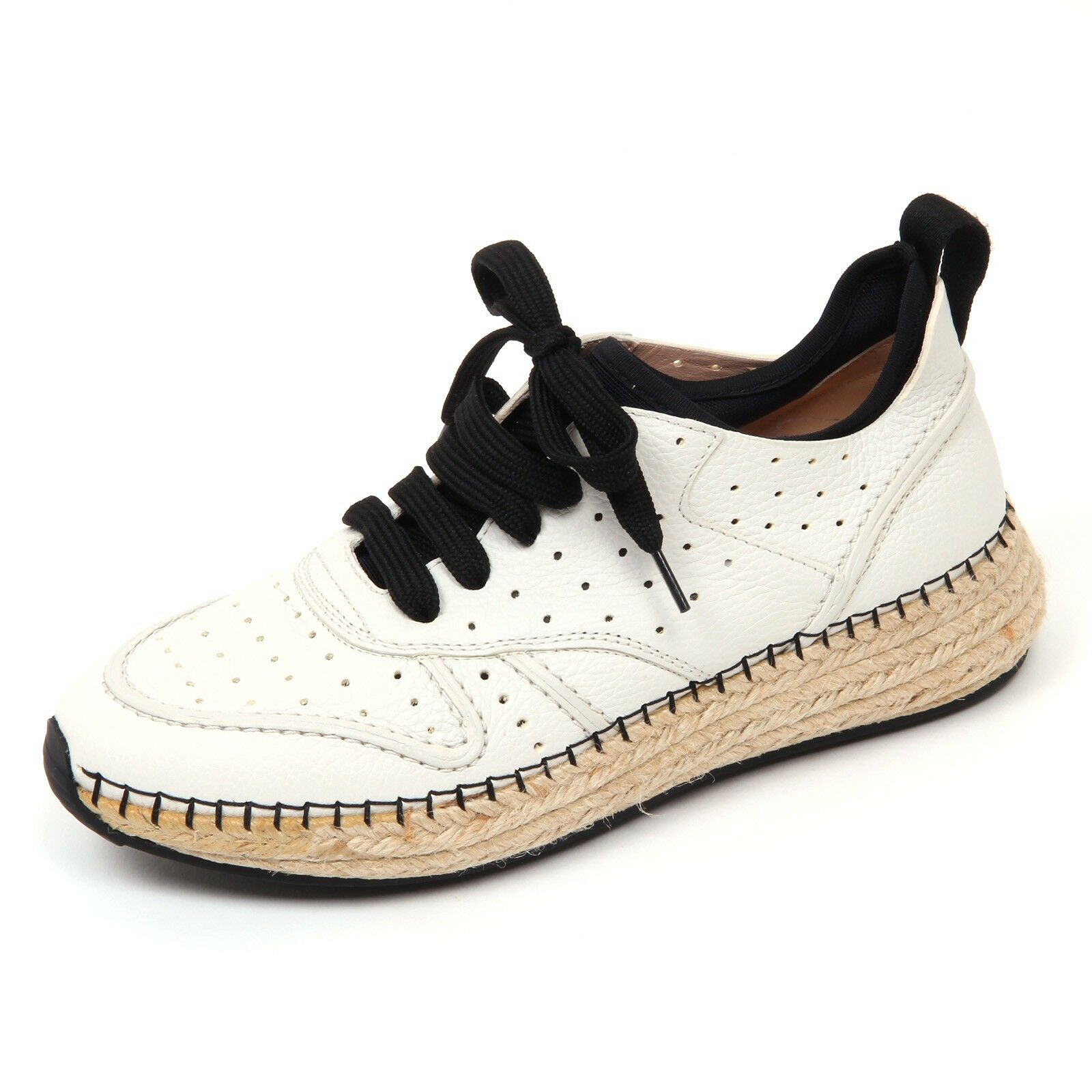 D0518 sneaker donna avorio TOD'S scarpa run rafia 29A forata avorio donna shoe woman 50a843
