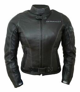Giacca-giubbotto-moto-donna-GIUDICI-pelle-pecora-protezioni-CE-tipo-BETAC-nero
