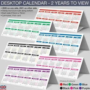 Desktop-Calendar-2020-2021-Planner-StandUp-Tent-Card-Ruler-2-Year-LAMINATED