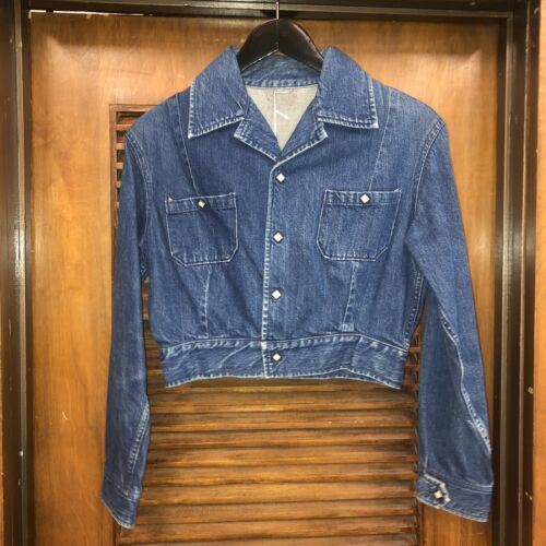 "VINTAGE 1950'S ""LEVI'S SHORTHORN"" DENIM FAMILY RAN"