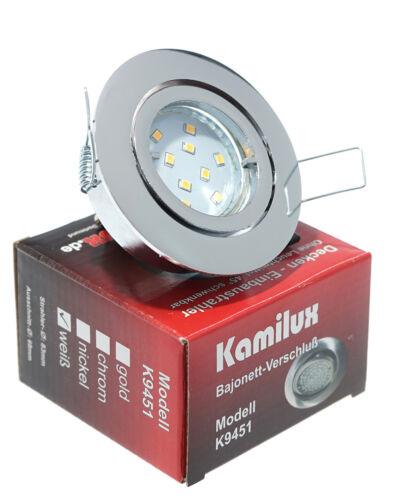Sets 5W LED EINBAULEUCHTE Bajo EINBAU STRAHLER DECKENLEUCHTE SPOT 230V GU10